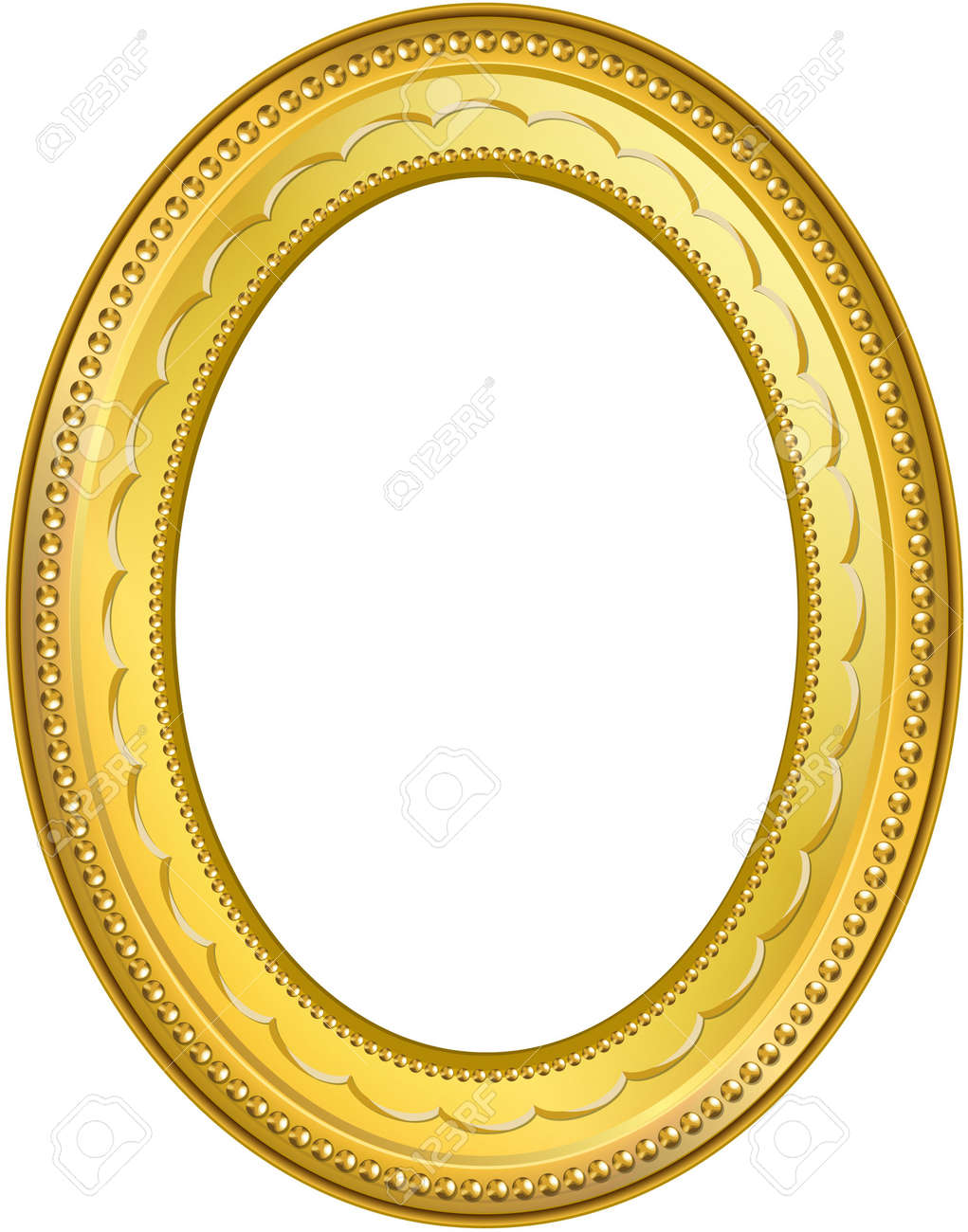 Golden frame with clipping paths. Digital illustration from scratch. Blends, gradient mesh. Stock Illustration - 530682