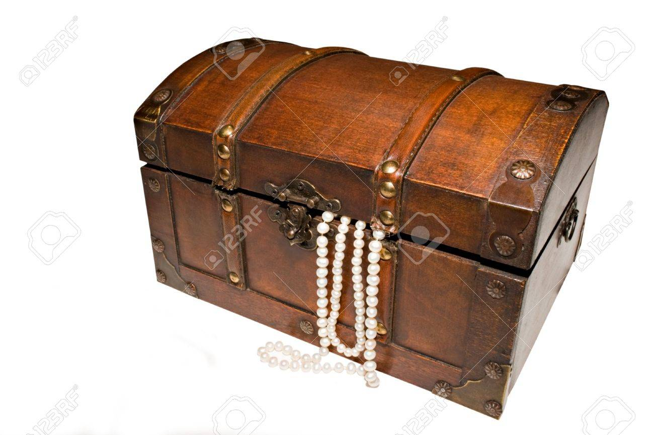 wooden treasure chest or jewellery box with strings of pearls spilling out stock photo  sc 1 st  Fresh and Free Download For Your Home Design & Wooden Treasure Chest. Wooden Treasure Chest For Sale. Photo Photo ... Aboutintivar.Com
