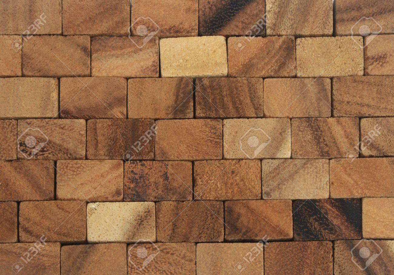 fondo de muro de bloques de madera abstracta foto de archivo
