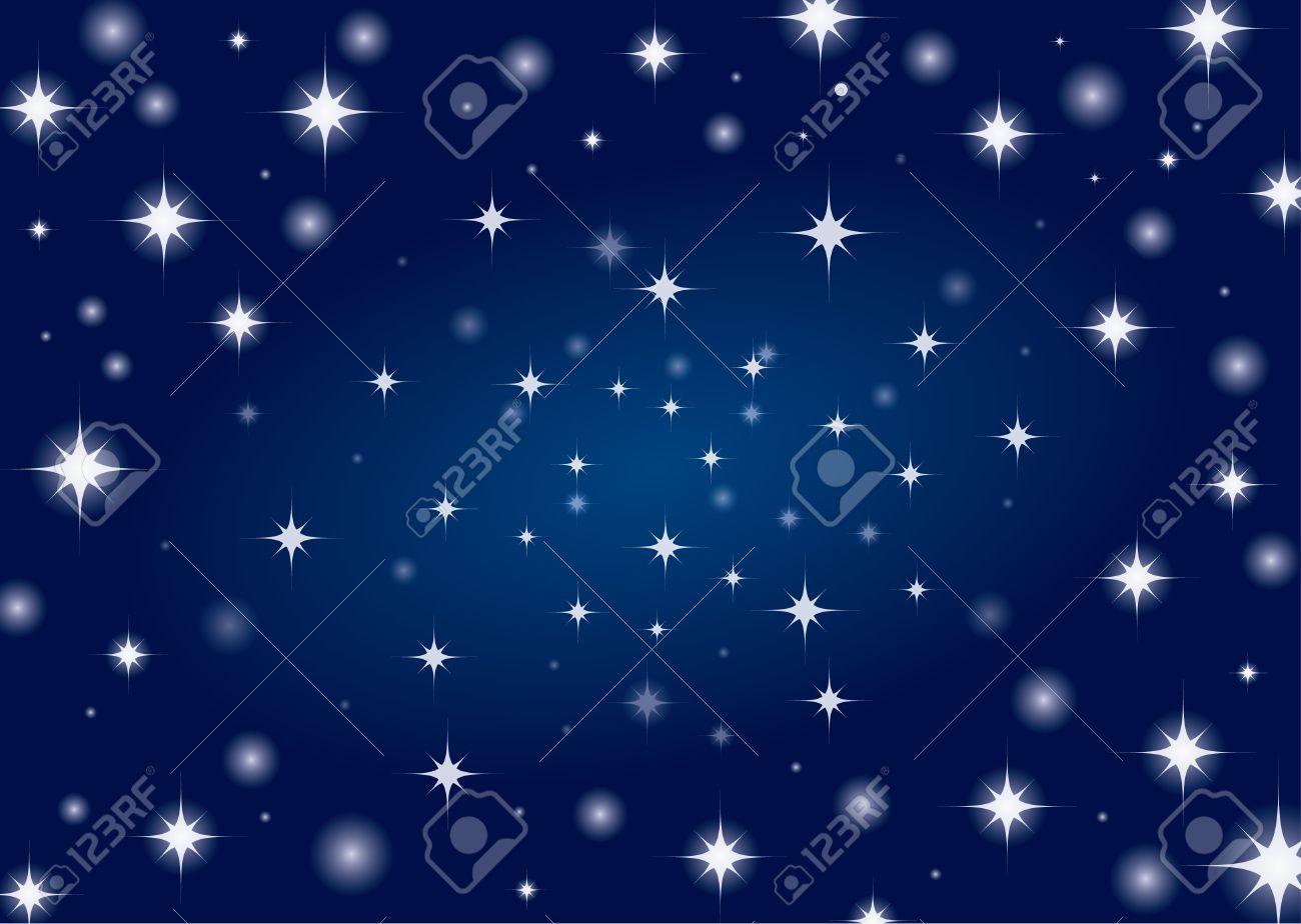 Beautiful night star sky background Stock Vector - 8312137