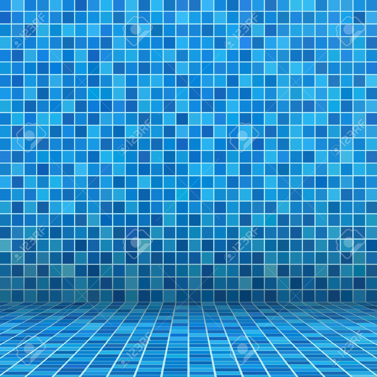 Blue Ceramic Tile Mosaic In Swimming Pool Royalty Free Cliparts ...