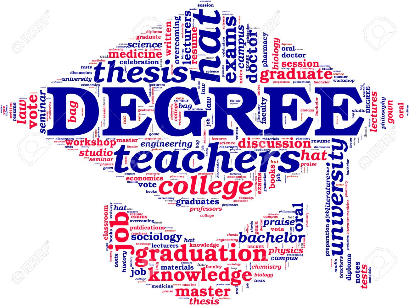 doctorate hat tag cloud Stock Photo - 18115943
