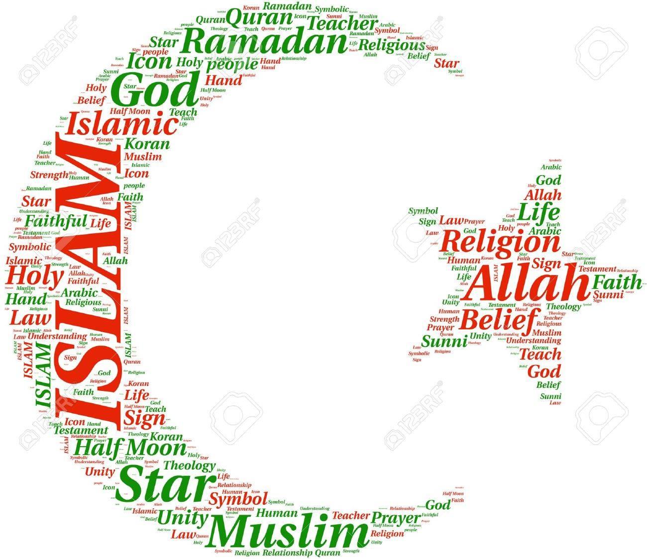 Islam symbol tagcloud illustration stock photo picture and islam symbol tagcloud illustration stock illustration 18115937 biocorpaavc