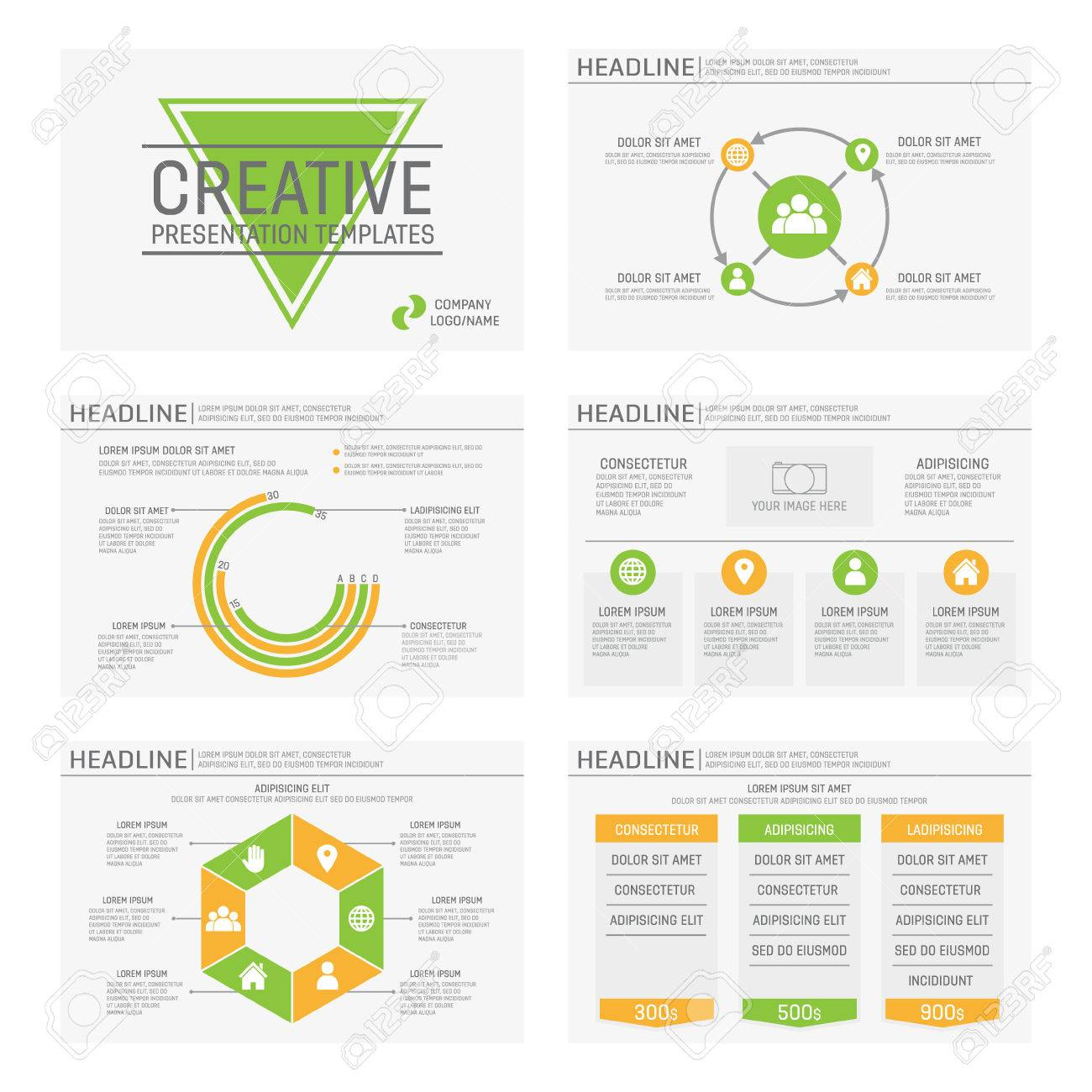 Vector template for presentation slides with graphs and charts - 48035196