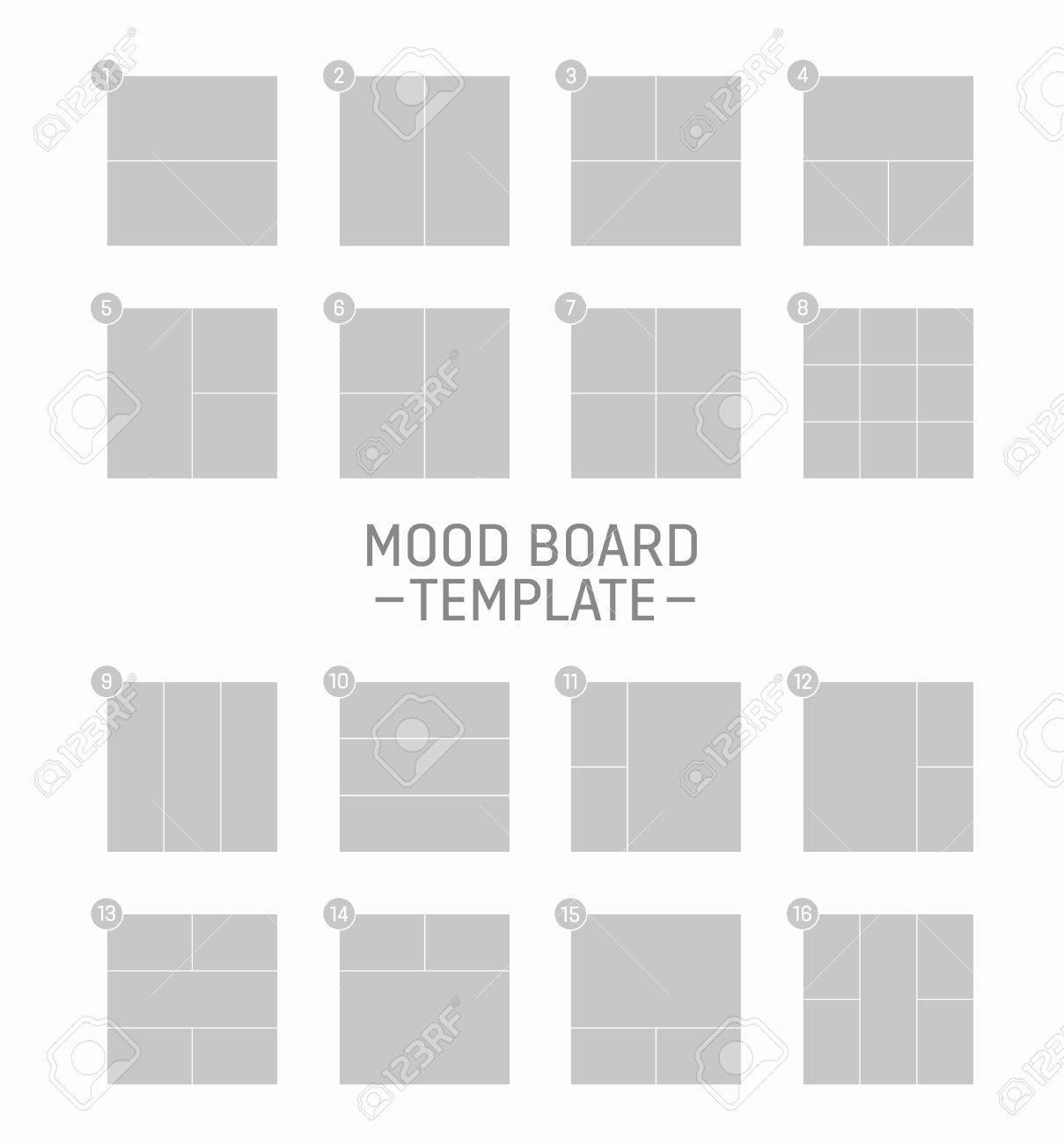 Vector Mood Board Photo Templates Royalty Free Cliparts, Vectors ...