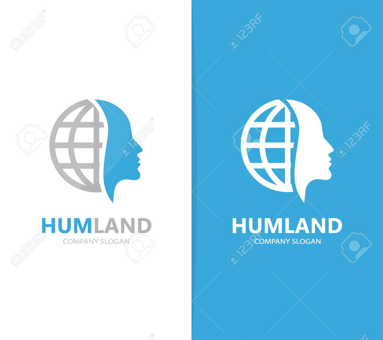 Vector of man and planet logo combination face and world symbol vector of man and planet logo combination face and world symbol or icon unique buycottarizona Choice Image