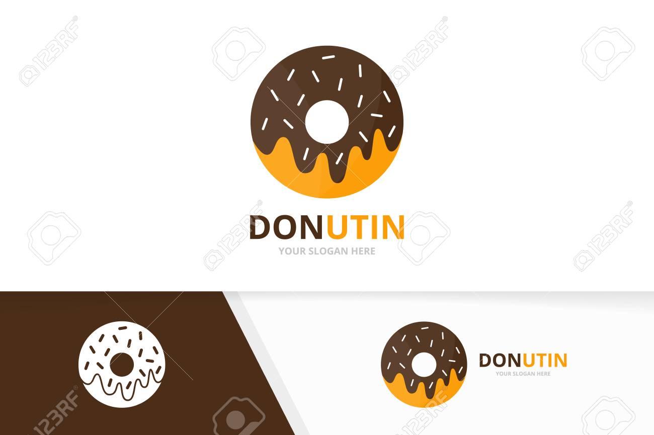 Vector donut logo combination doughnut and cake symbol or icon doughnut and cake symbol or icon unique bakery and organic buycottarizona