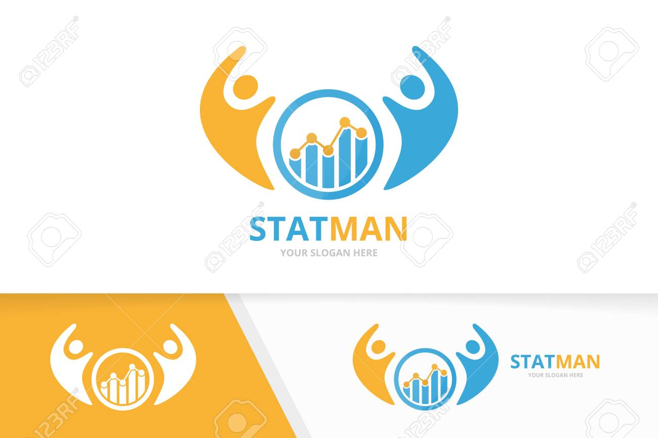 A Vector Graph And People Logo Combination Diagram And Family
