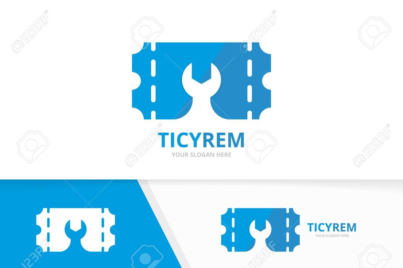 Fix A Ticket >> Vector Ticket And Repair Logo Combination Ducket And Fix Symbol