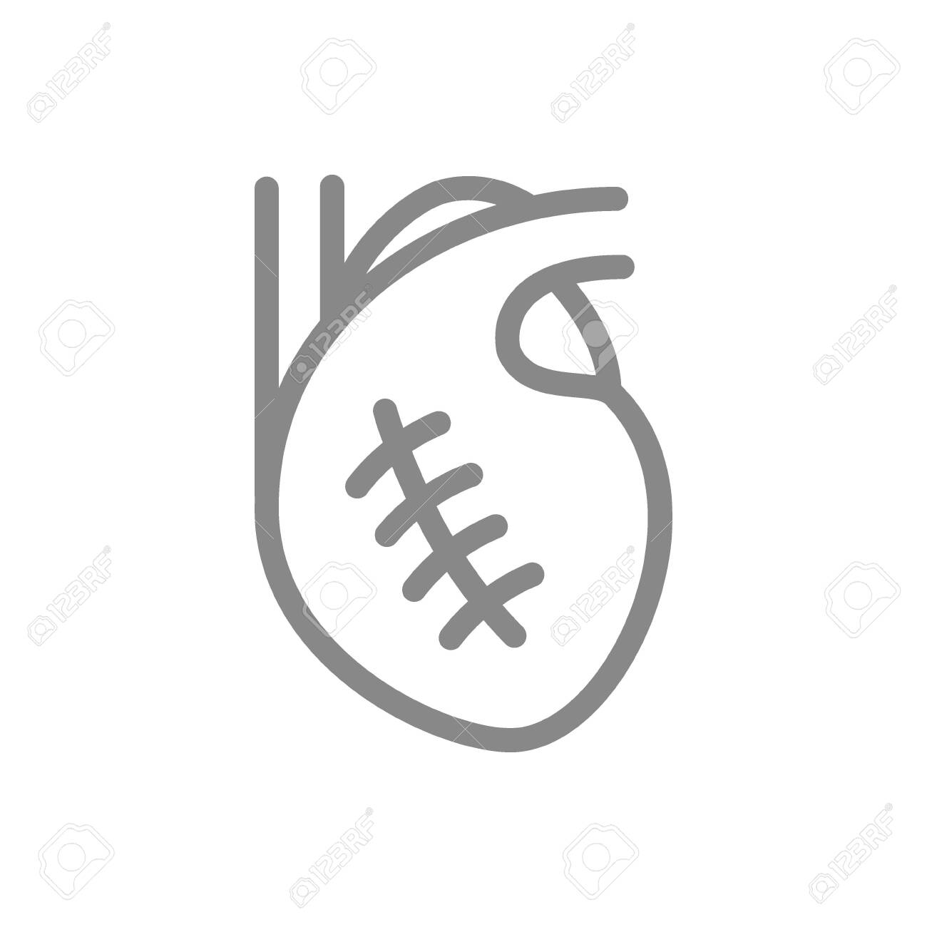 Scar On Heart Line Icon Myocardial Infarction Cardiac Surgery Royalty Free Cliparts Vectors And Stock Illustration Image 151517430