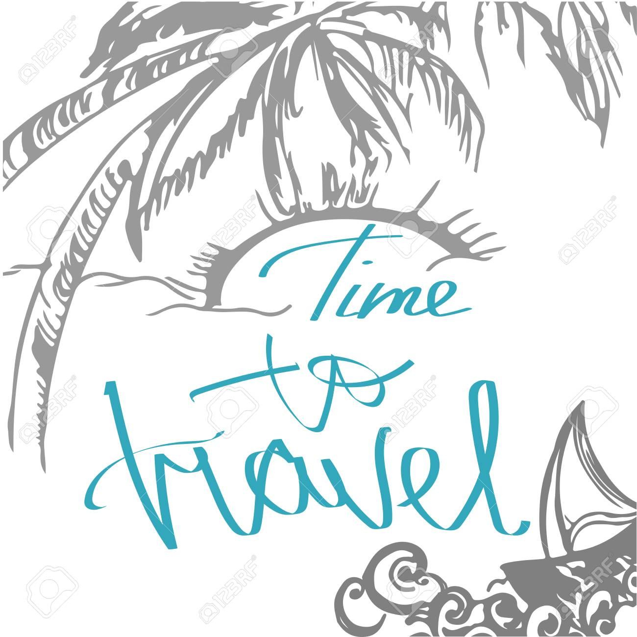 Travel Hand Drawn Sketch For Design Handwritten Letters Adventure Stock Photo Picture And Royalty Free Image Image 70121042