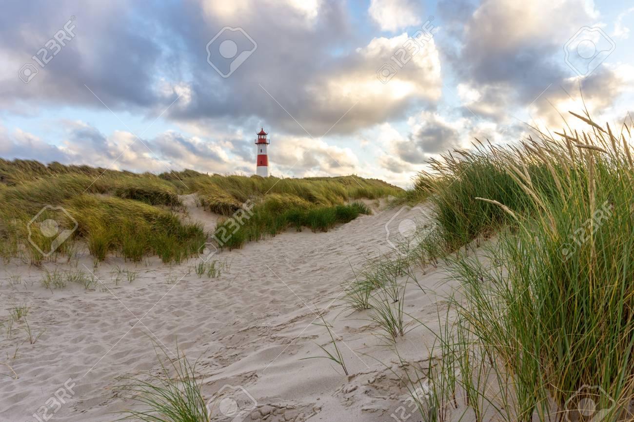 Lighthouse List East On The Island Sylt Germany Stock Photo