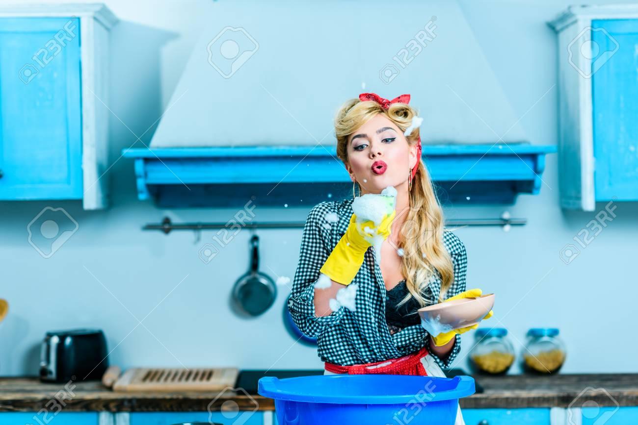 Bläst hausfrau Hausfrau Bläst