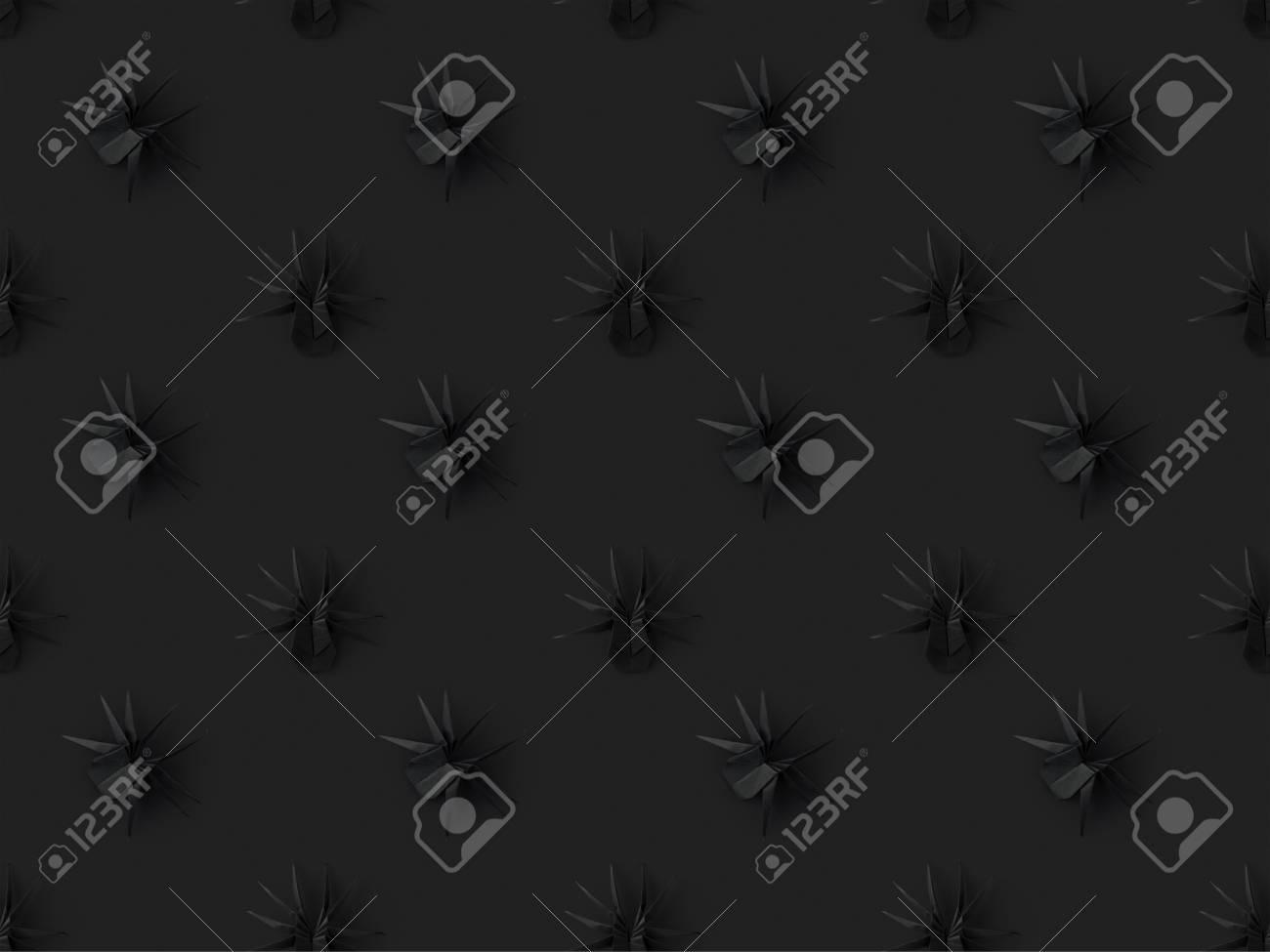 texture d'halloween avec des araignées origami noirs, isolé sur fond