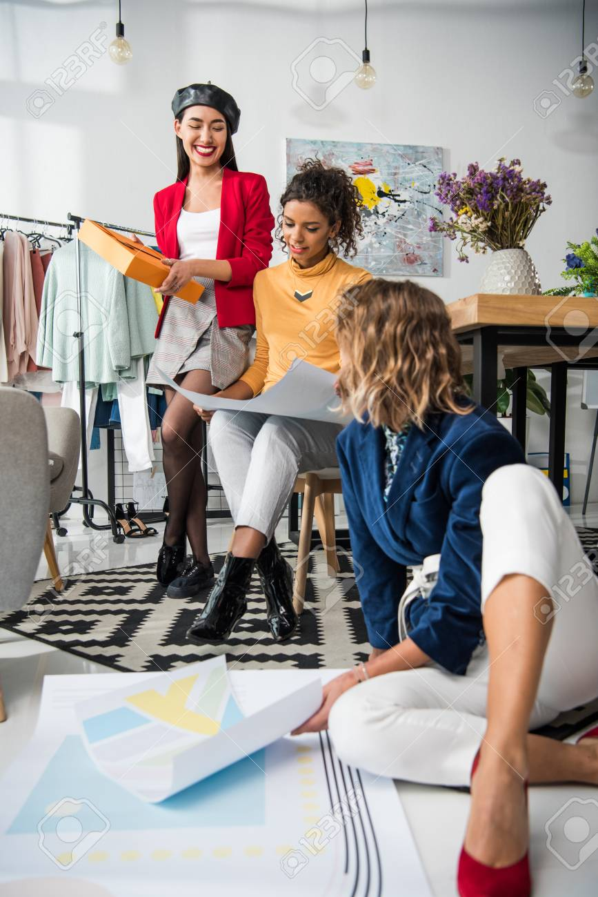 Multiethnic Fashion Designers Working Together Stock Photo Picture And Royalty Free Image Image 90737441