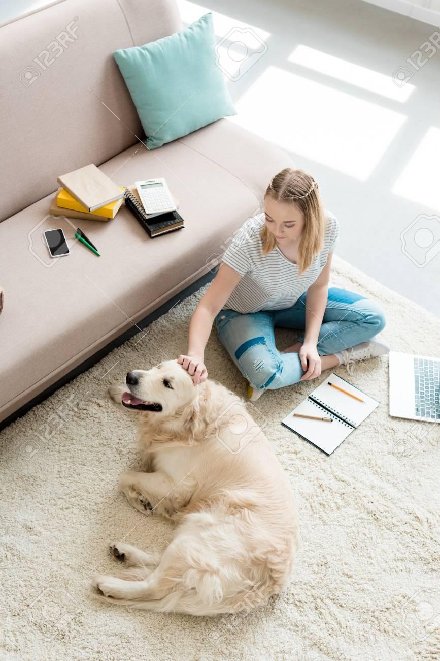 Teen petting