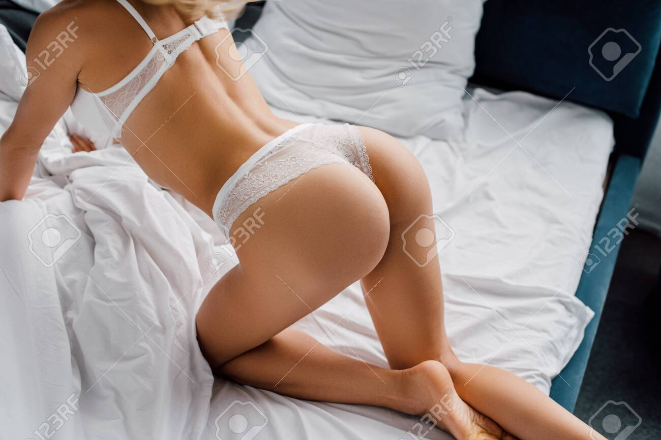 Hot girl in panties pics Cropped View Of Sexy Girl In Underwear On Bed Stock Photo Picture And Royalty Free Image Image 141919684