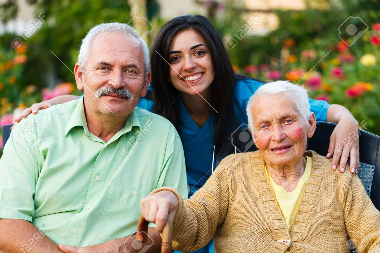 Family and doctor teaming up for the wellbeing of the senior woman. Stock Photo - 23343061