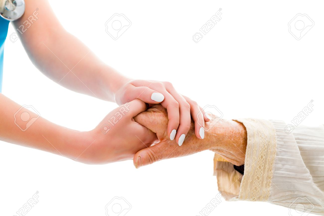 Supporting hands for senior woman - doctor and elderly patient. Stock Photo - 41756799