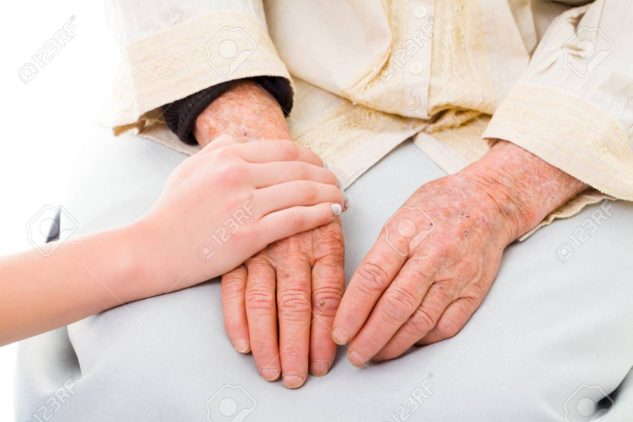supporting hands for senior woman stock photo picture and royalty