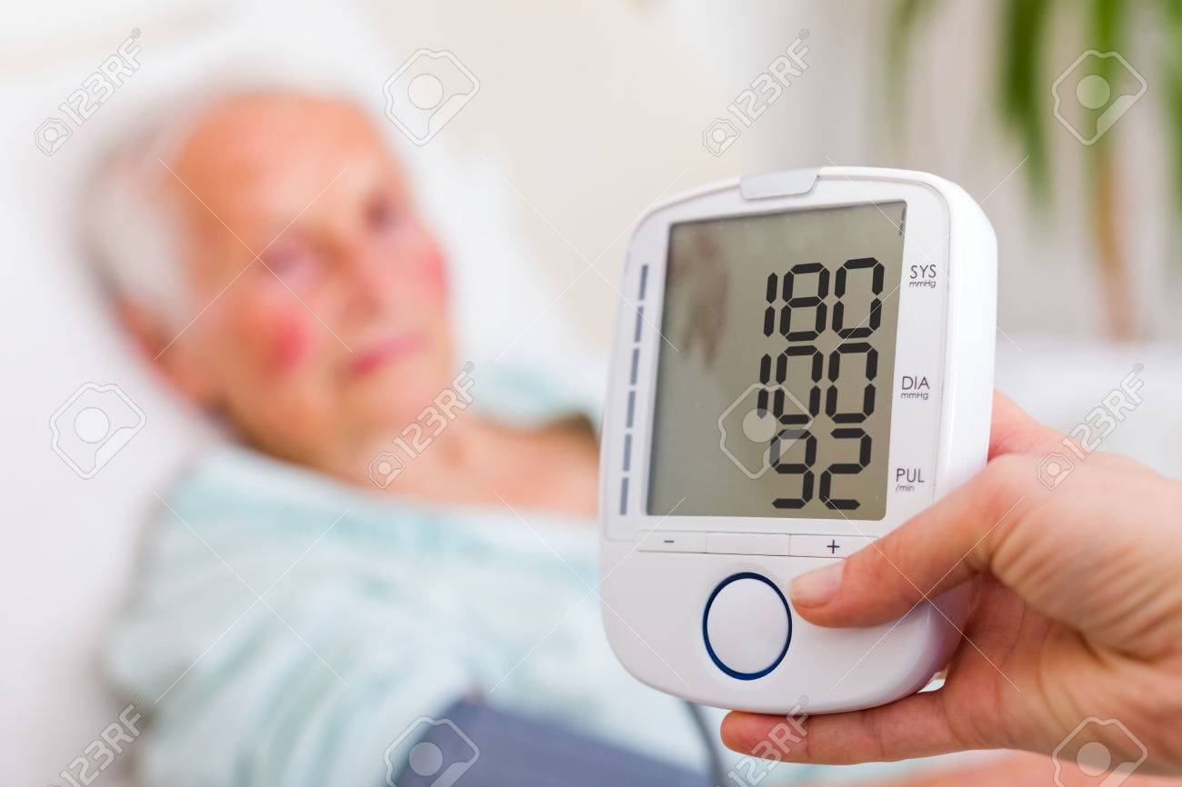 Very high blood pressure registered by nursing home geriatrician doctor. - 56713118