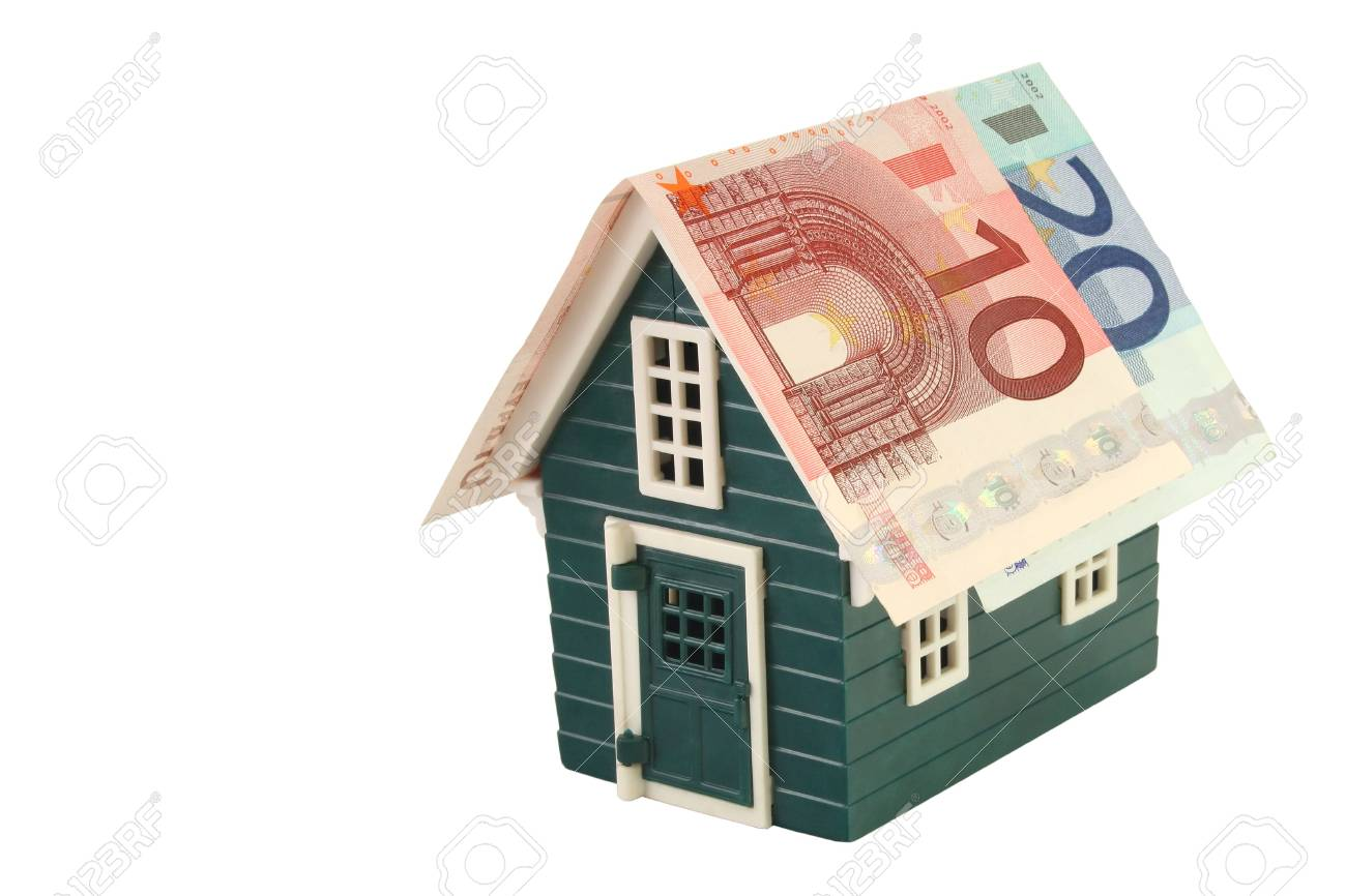 Real estate concept, home and property insurance : are you covered ? (with copy space - isolated) Stock Photo - 786729