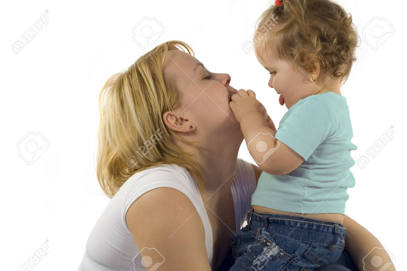 Young mother playing with her  girl Stock Photo - 801179