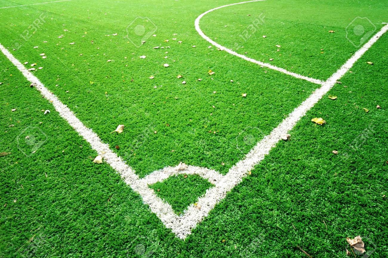 Corner line on soccer field Stock Photo - 5455574