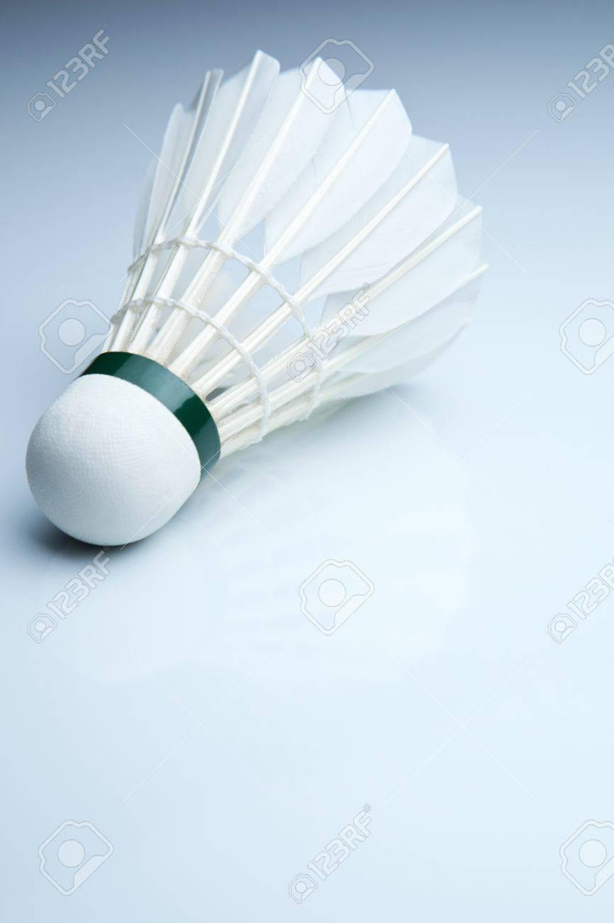 Badminton shuttlecock on white Stock Photo - 9800159