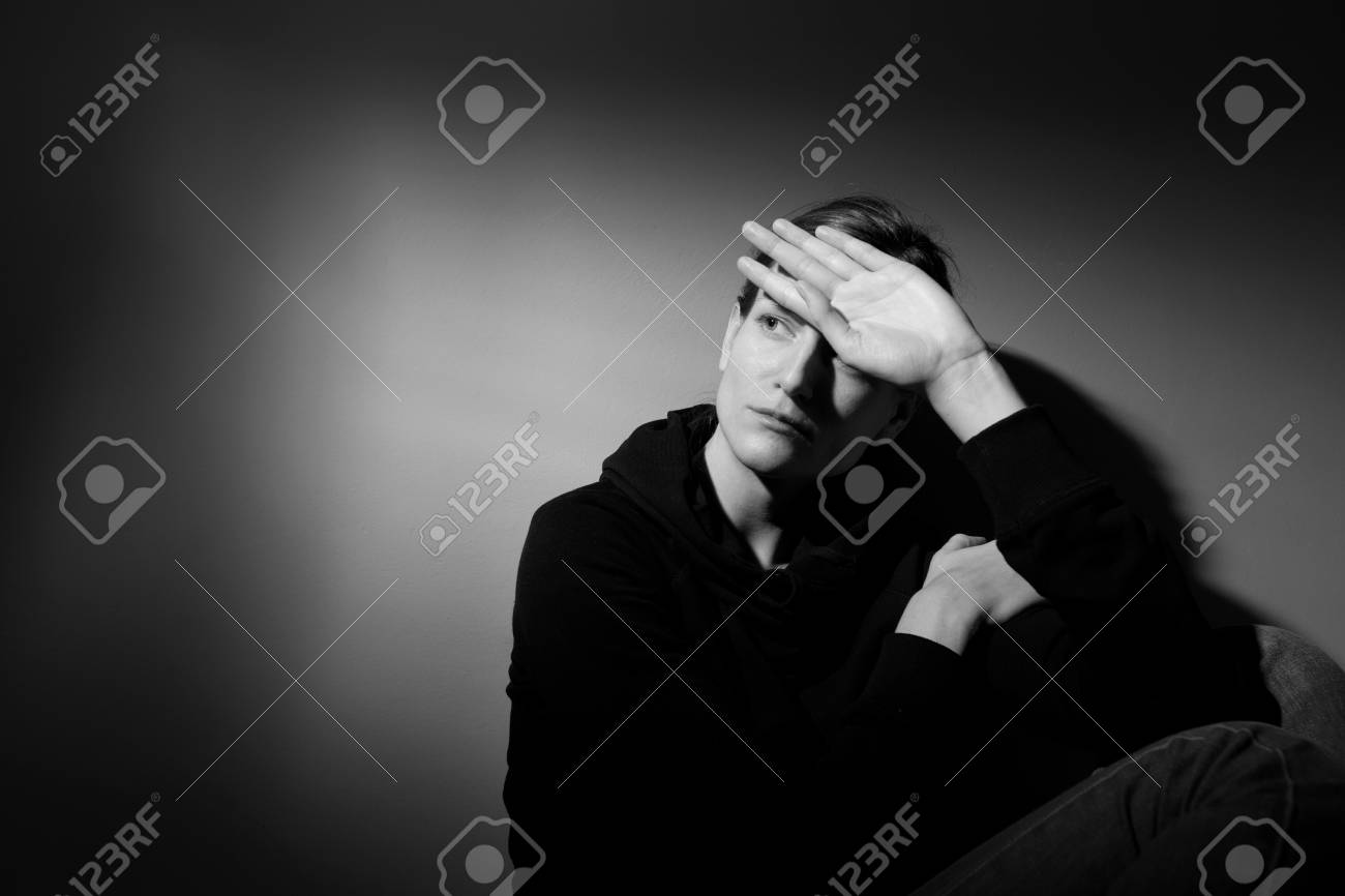 Young woman suffering from severe depression Stock Photo - 9792736