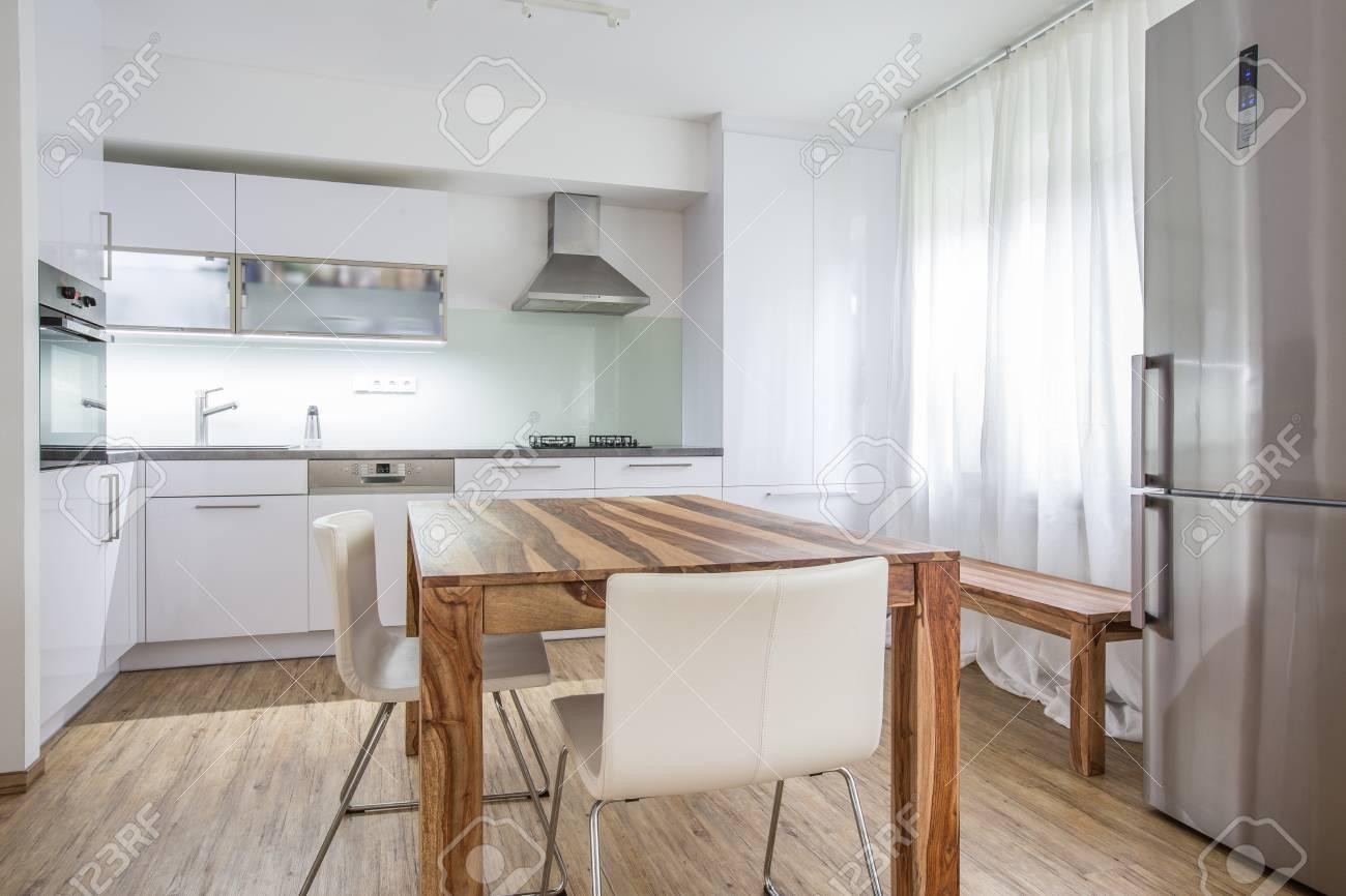Modern Kitchen Interior Design Architecture Stock Image,Photo Of Living  Room, Bathroom,Kitchen