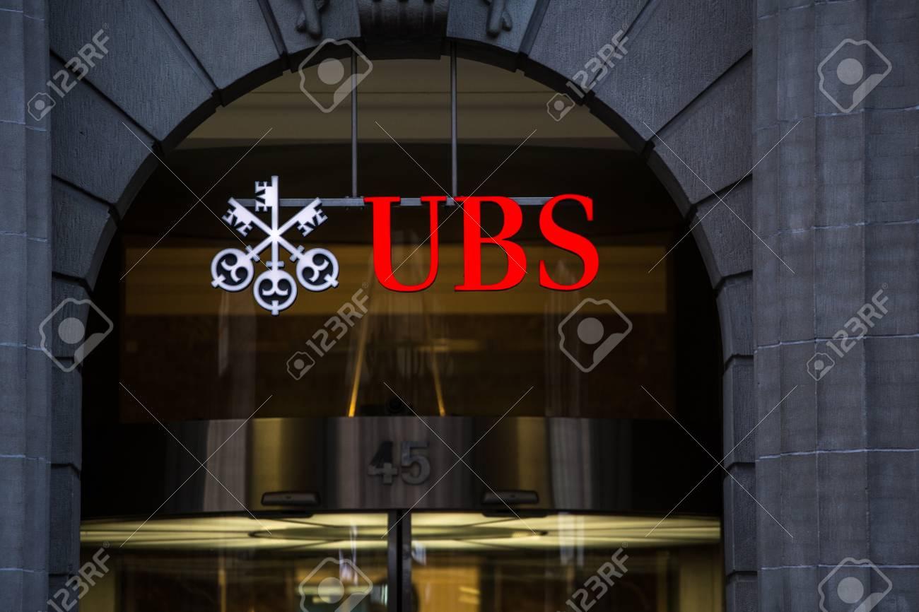 ZURICH, SWITZERLAND, 27 March 2014: UBS, Switzerland's largest