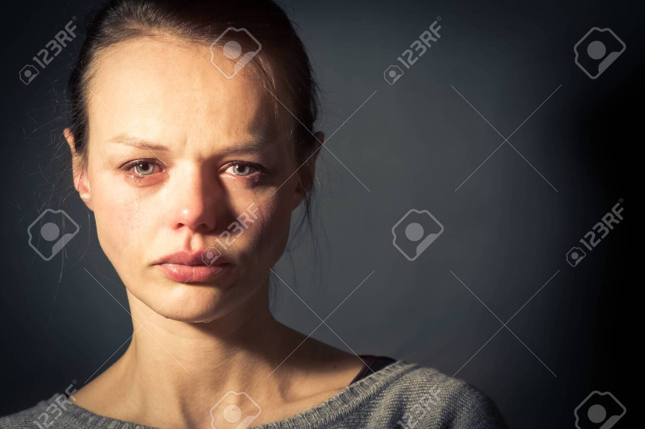 Young woman suffering from severe depression/anxiety/sadness - 146450979