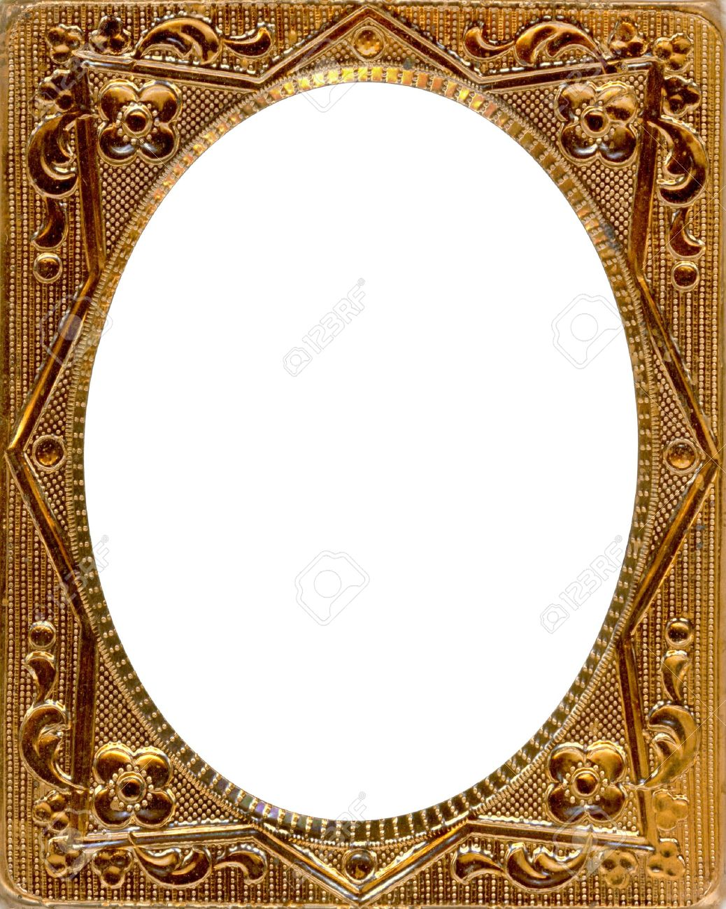 ornate gold metal picture frame from the 1850s this type of picture frame was used