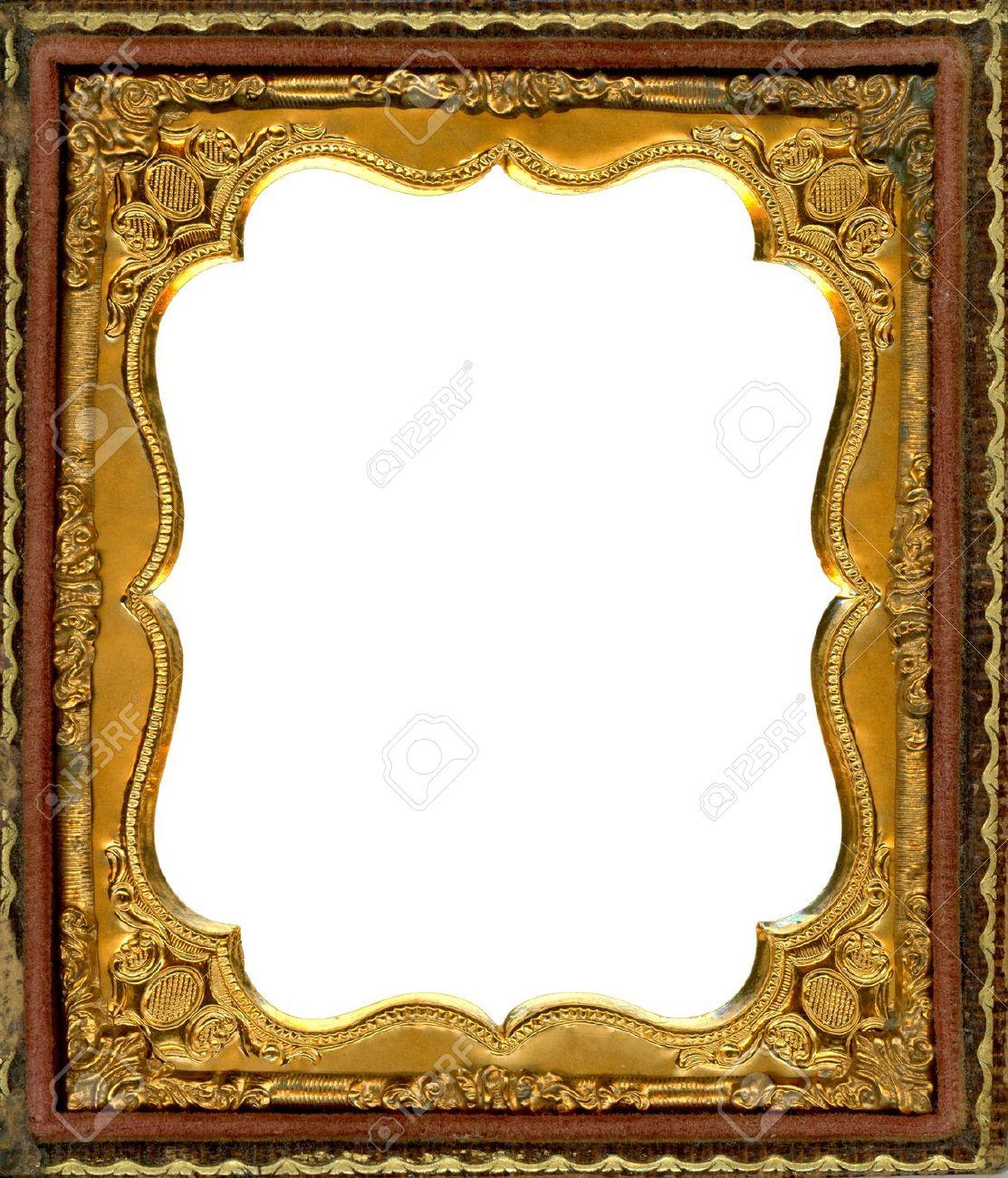 De Metal Adornado De Oro Marco De Imagen De La Década De 1850. Este ...