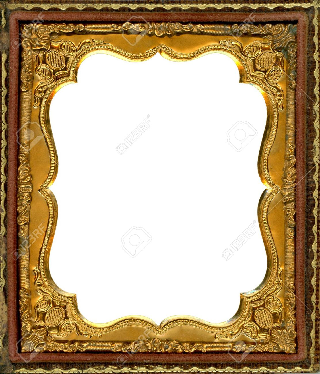 Ornate Gold Metal Picture Frame From The 1850s. This Type Of.. Stock ...
