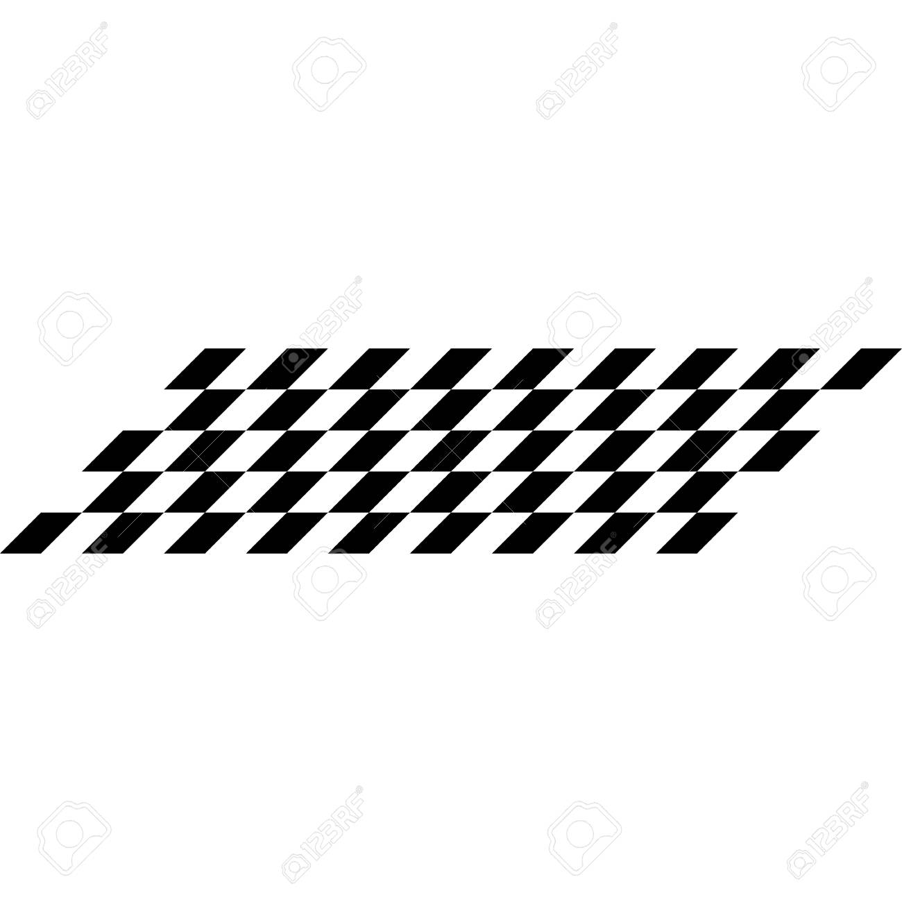 Modern Race Flag Background Template For Automotive Logo Decal