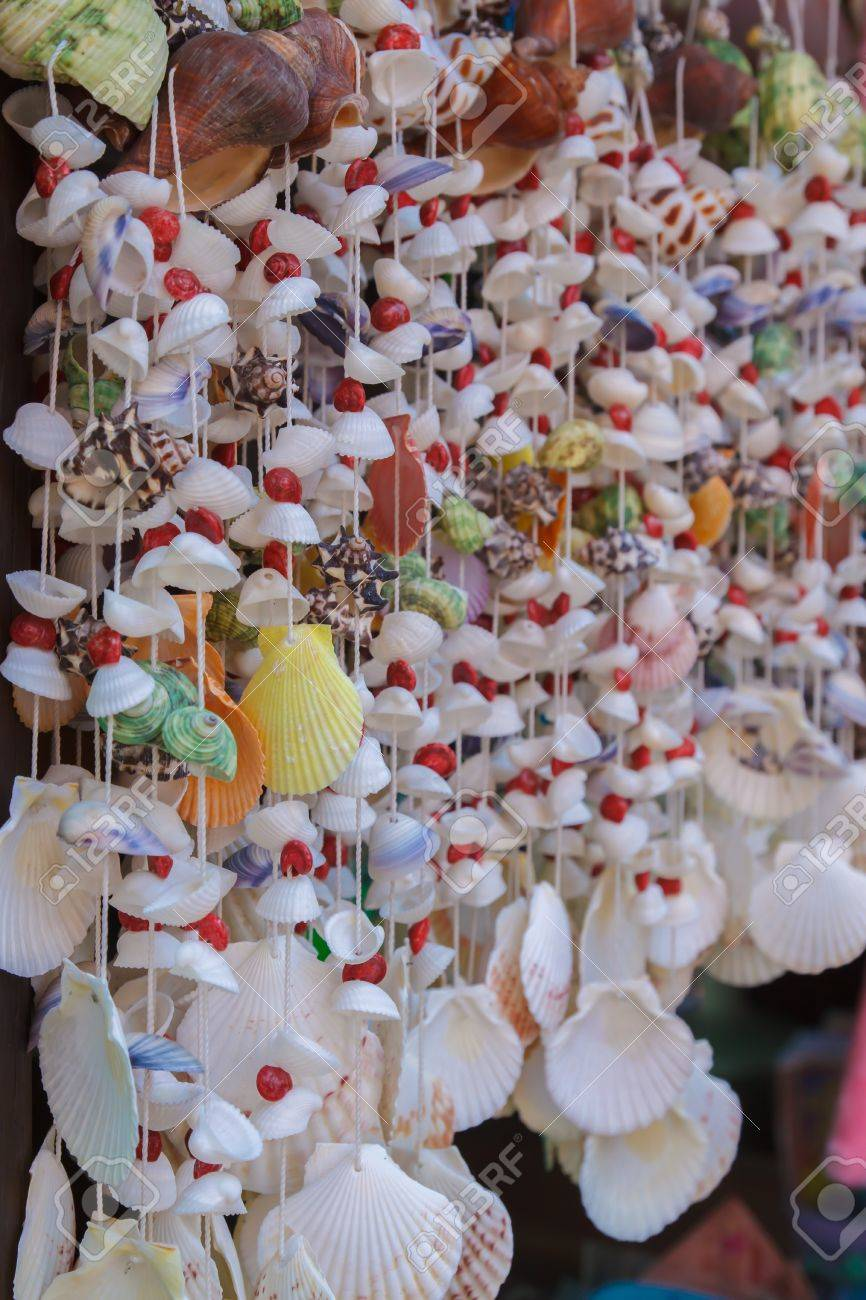 Handicraft Mobile Made From Various Seashells
