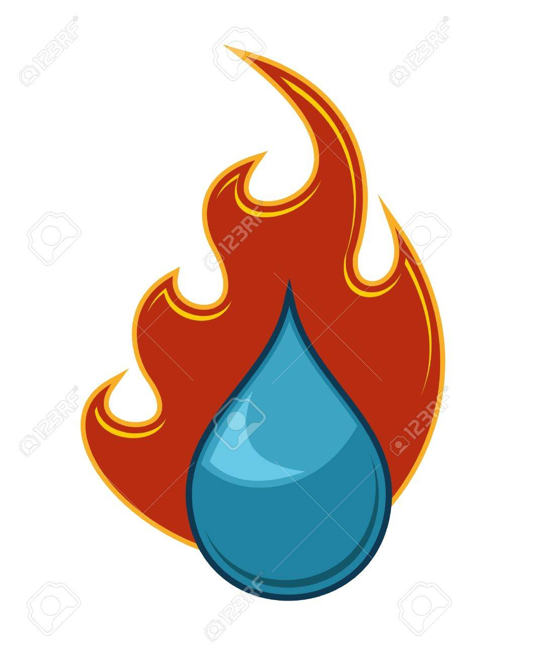 Fire and water royalty free cliparts vectors and stock fire and water stock vector 12153306 biocorpaavc Choice Image