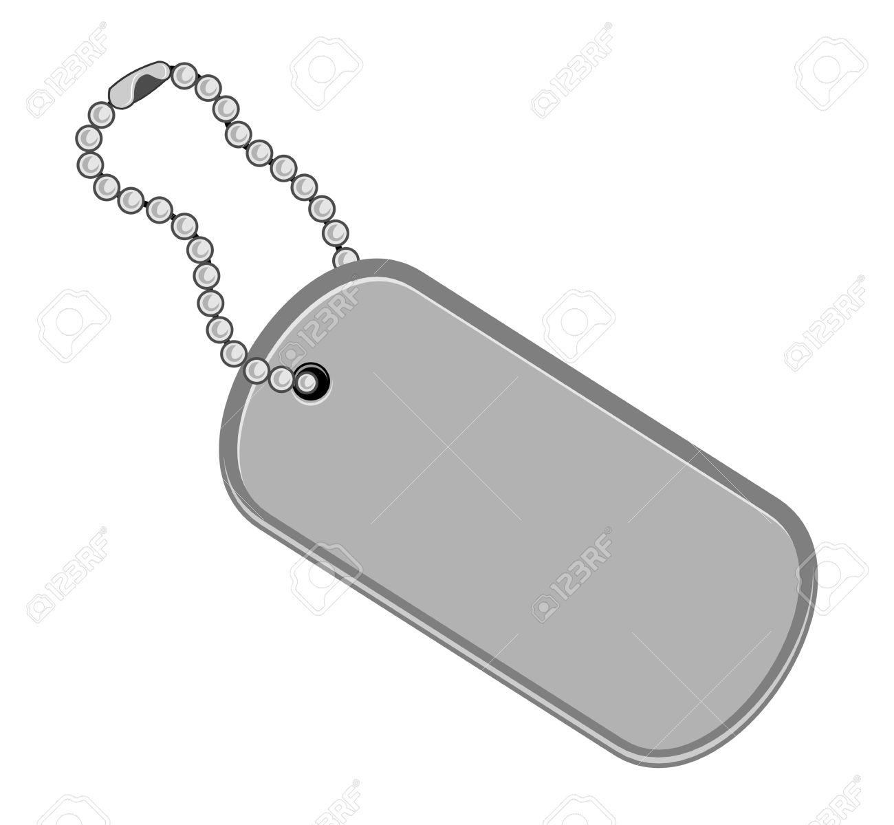 Dogtag  keychain illus...