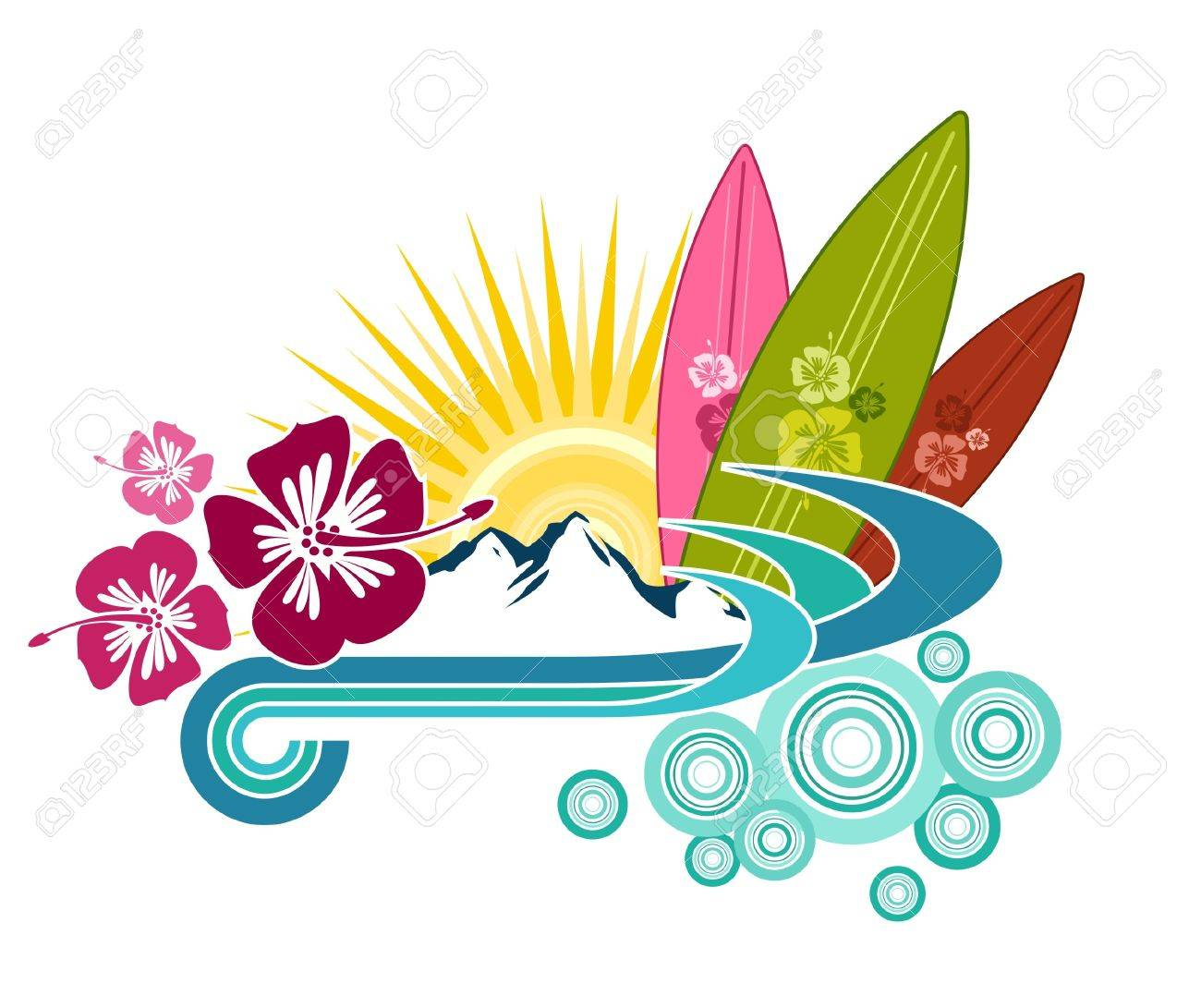 24,366 Hawaii Design Stock Vector Illustration And Royalty Free ...