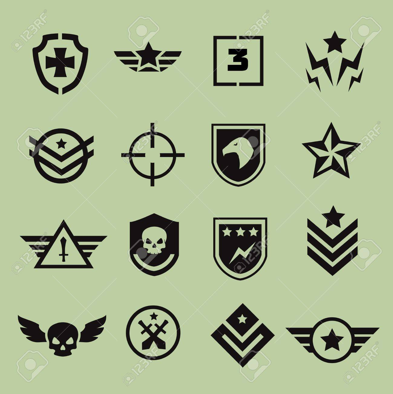 Military Symbol Icons Royalty Free Cliparts Vectors And Stock
