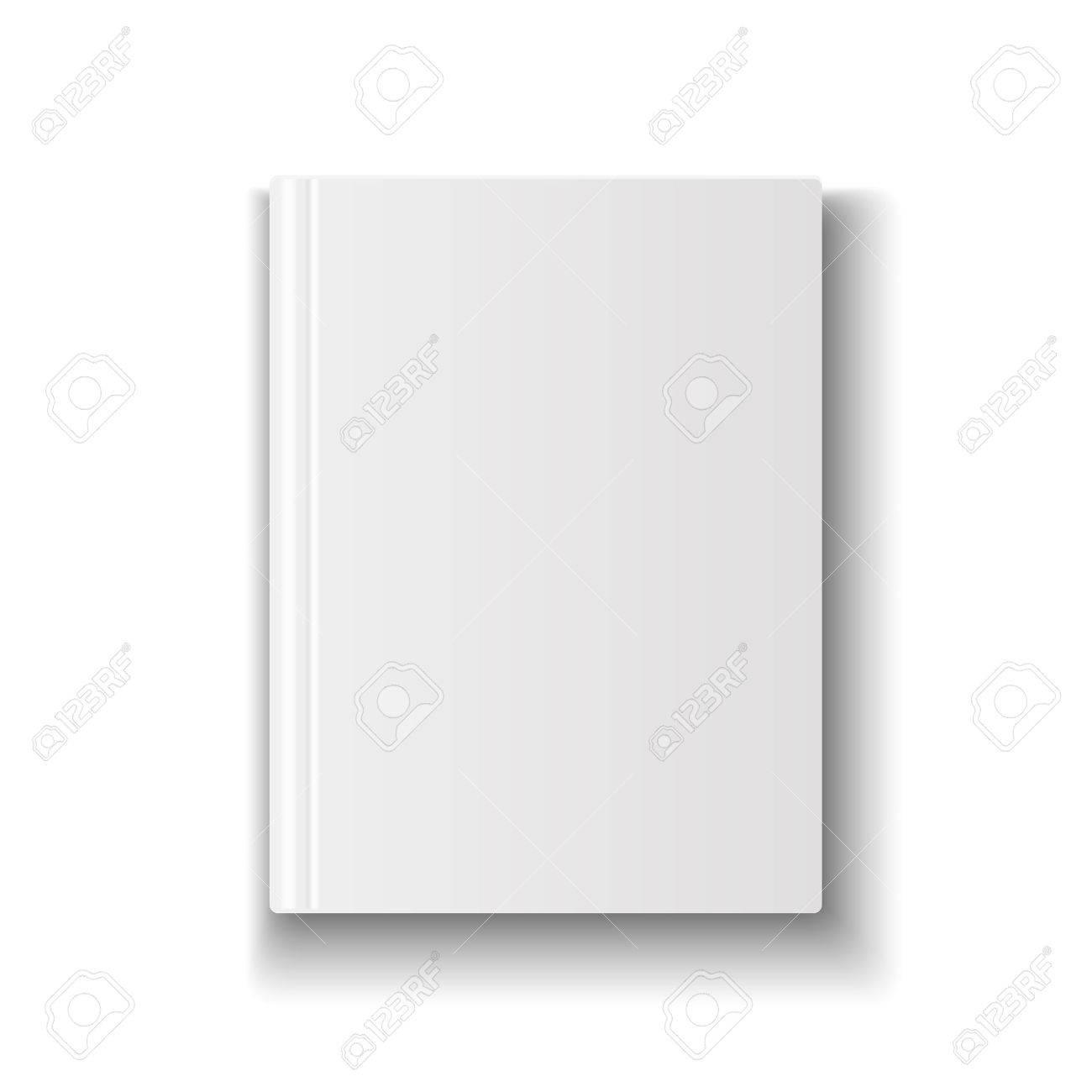 Blank Bucheinband-Vorlage Auf Weißem Hintergrund Mit Weichen ...