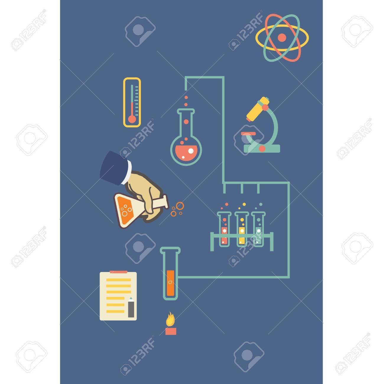Química Laboratorio Médico Ilustración Vectorial Infografía ...
