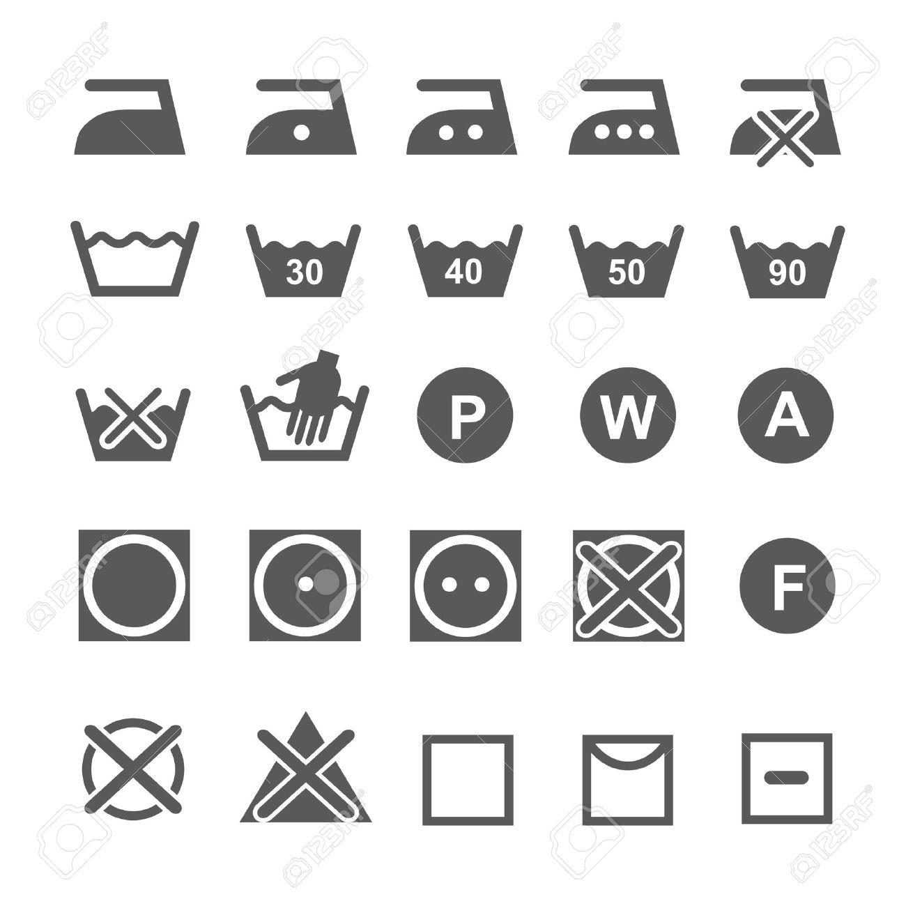 Set of washing symbols laundry icons isolated on white background set of washing symbols laundry icons isolated on white background stock vector 35333484 biocorpaavc Image collections
