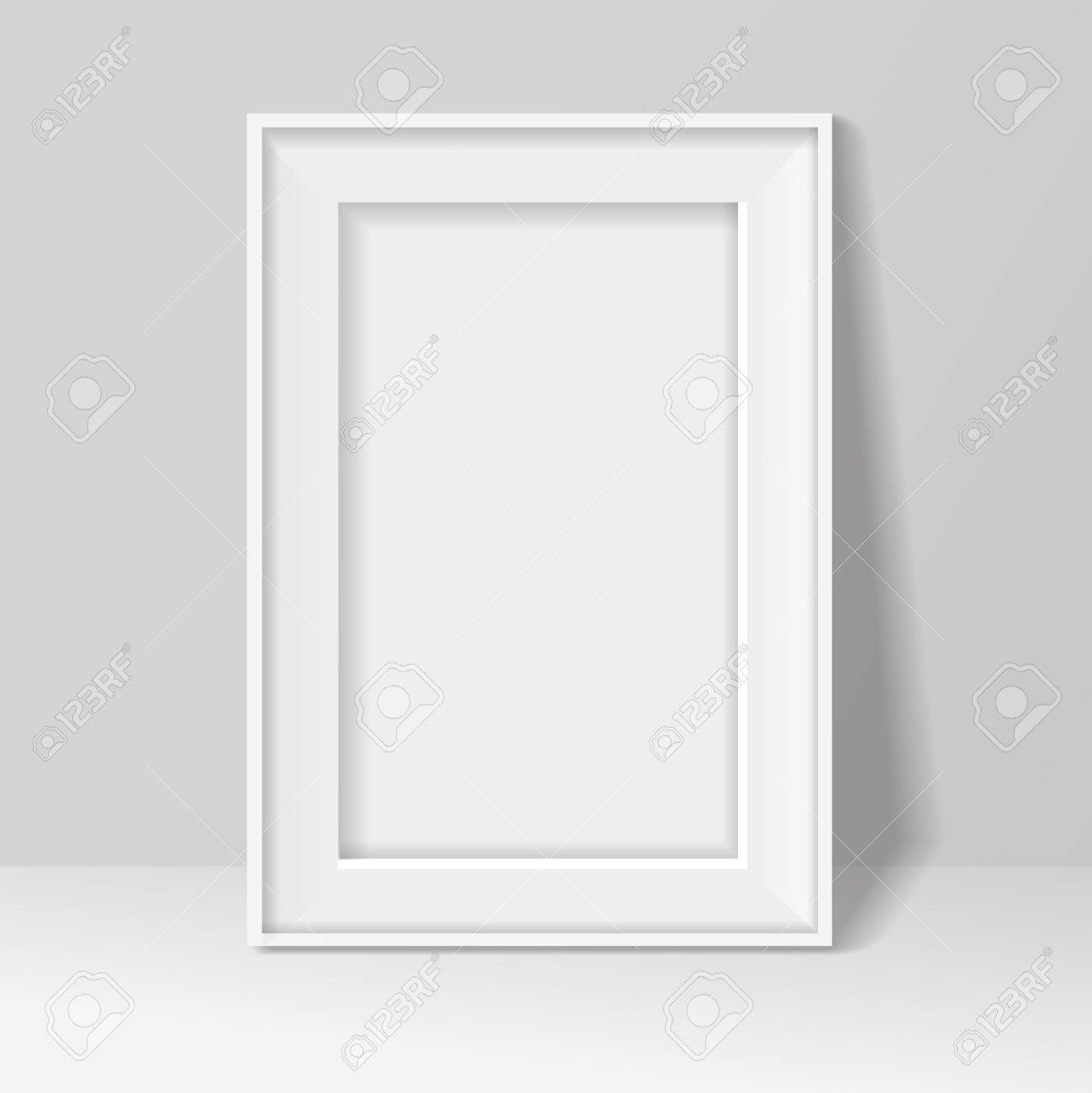 8f1170818d2 blank frame on white wall background. illustration . Stock Illustration -  40914367