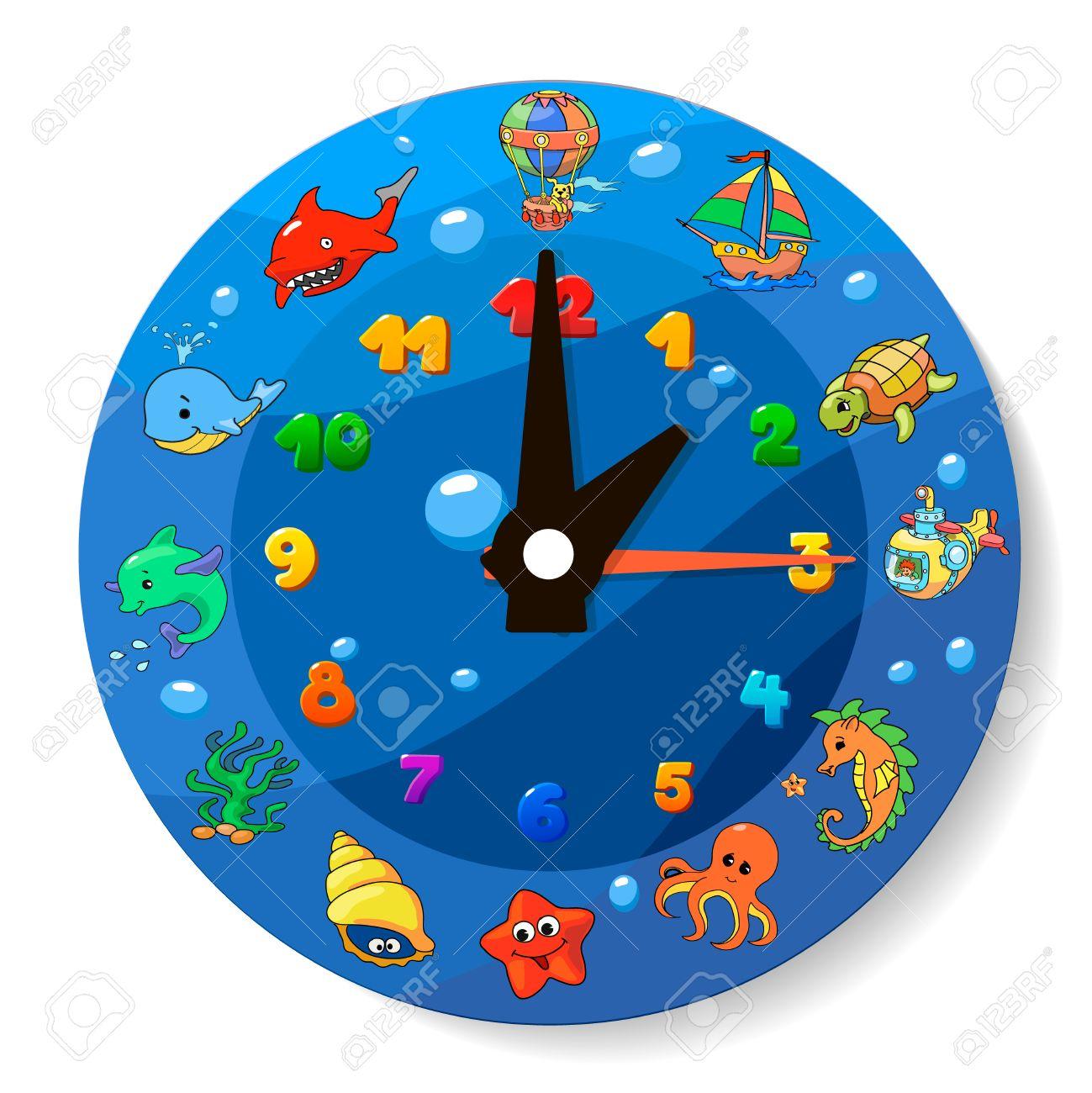 NiñosMar De Para Animales Colección Divertido Los Animados Reloj Dibujos rtsxQdCh