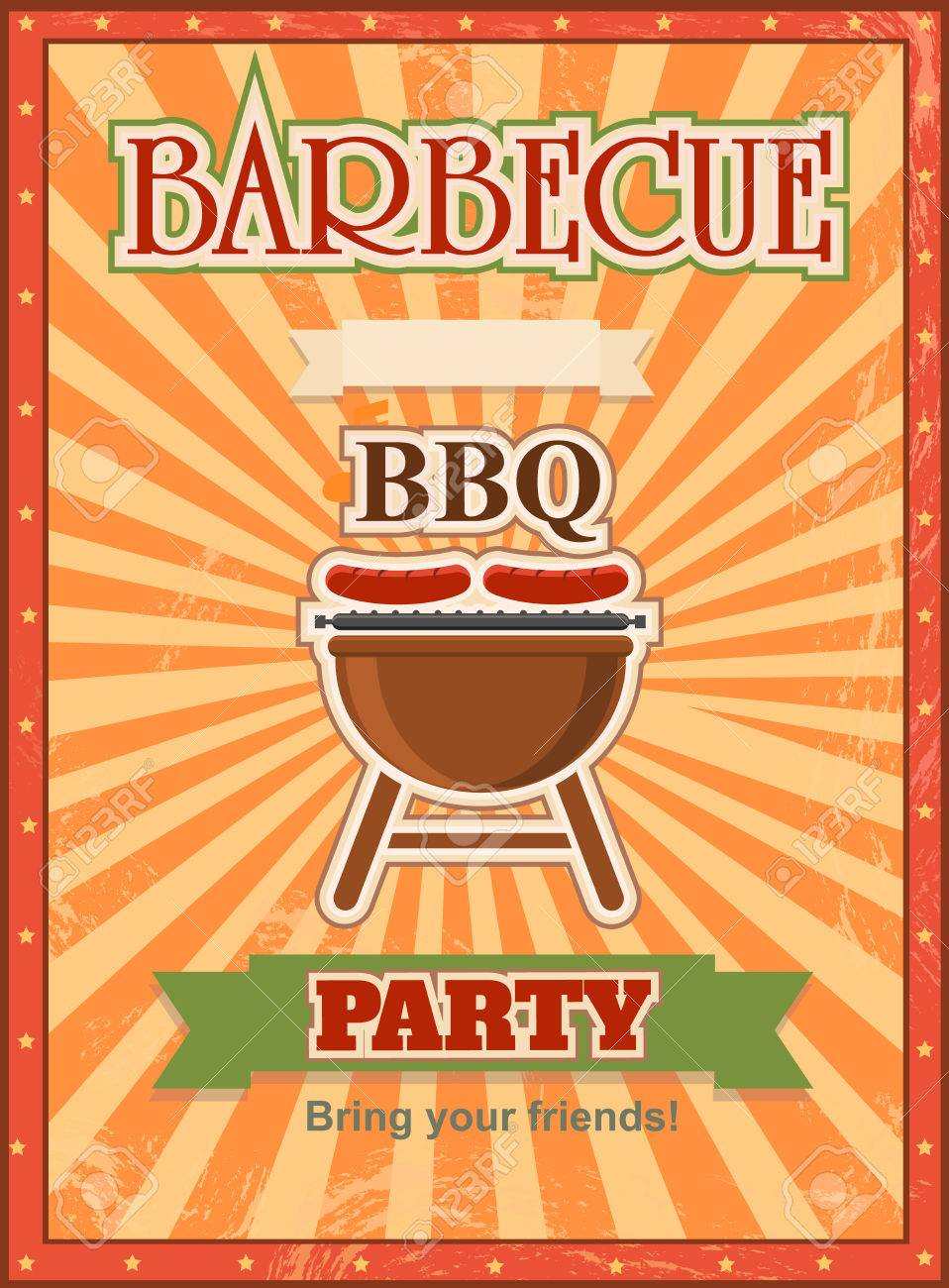 invitation card on the barbecue design template cookout poster