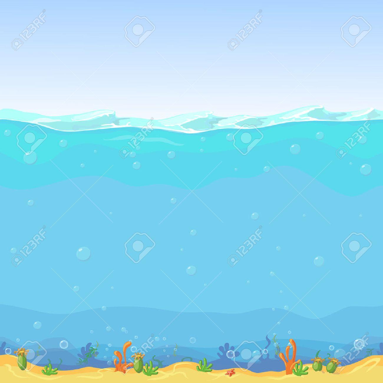 Vettoriale Paesaggio Sottomarino Senza Soluzione Di Continuità