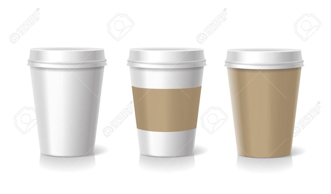 takeaway coffee cup templates illustration isolated stock photo